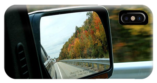 Fall In The Rearview Mirror IPhone Case