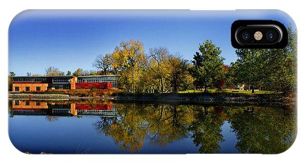 Fall Iowa River View IPhone Case