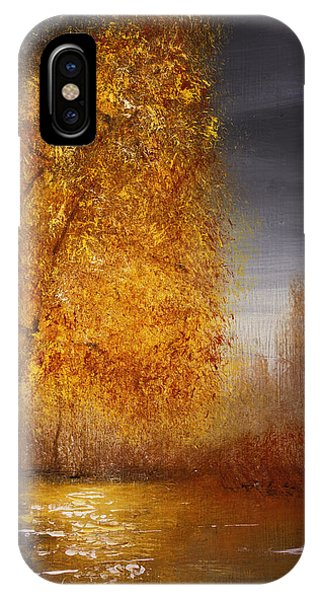 Fall Lake Reflections IPhone Case