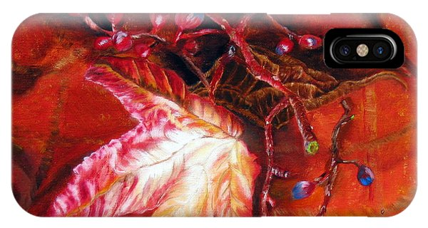 Fall Leaf And Berries IPhone Case