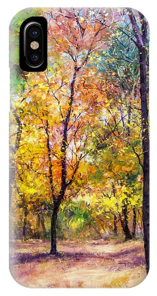 Fall Leaves At Indiana University Phone Case by Bill Inman