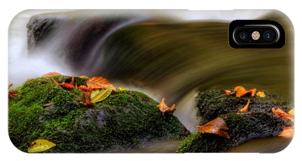 Fall Leaves On Mossy Rocks Phone Case by Greg Mimbs