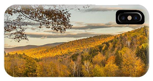 Fall Moon Nearing Sunset IPhone Case
