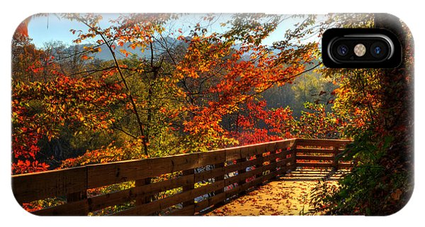 Fall Morning Walk IPhone Case