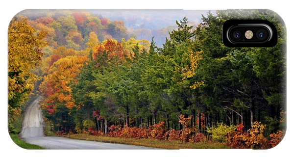 Cricket iPhone Case - Fall On Fox Hollow Road by Cricket Hackmann