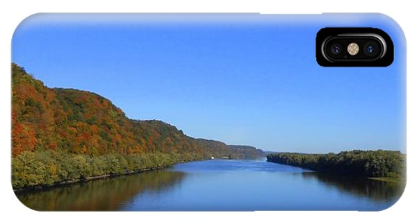 Fall On The Mississippi River  Phone Case by Dina Stillwell