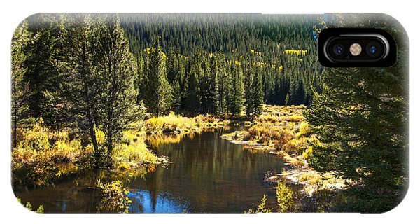 Fall Pond Cottonwood Pass IPhone Case