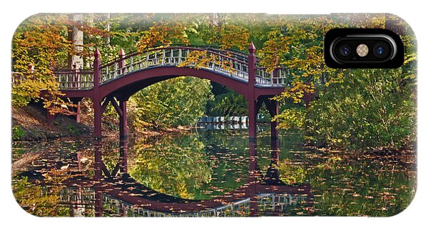 Fall Reflections At Crim Dell IPhone Case