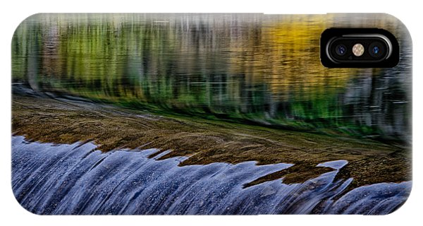 Fall Reflections At Tumwater Spillway IPhone Case