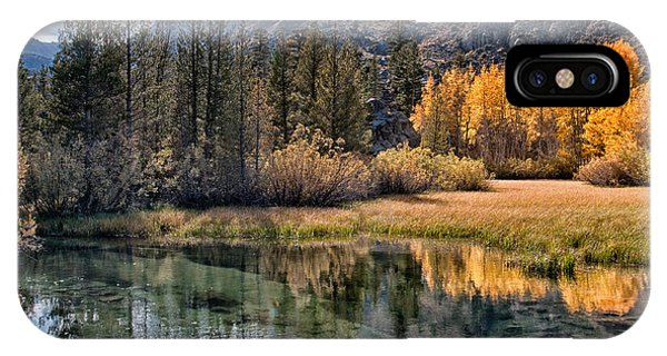 River iPhone Case - Fall Reflections by Cat Connor