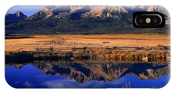 Fall Reflections Sawtooth Mountains Idaho IPhone Case