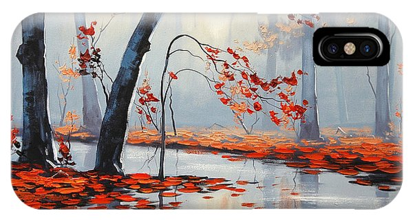 Amber iPhone Case - Fall River Painting by Graham Gercken