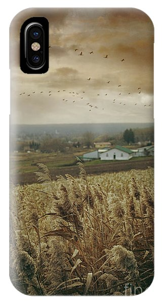 Fall Rural Scene Of A Farm In The Valley IPhone Case