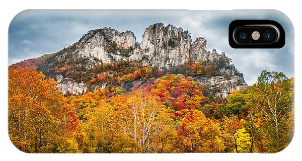 Fall Storm Seneca Rocks IPhone Case