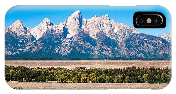 Fall Tetons Panorama   IPhone Case