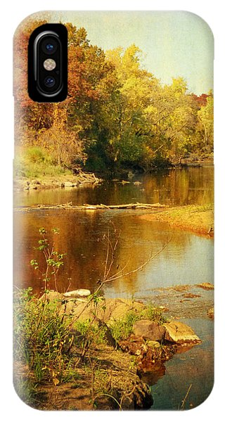 Fall Time At Rum River IPhone Case