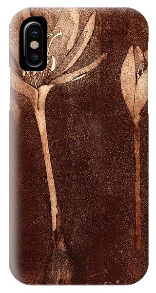 Fall Time - Autumn Crocus Meadow Safran IPhone Case