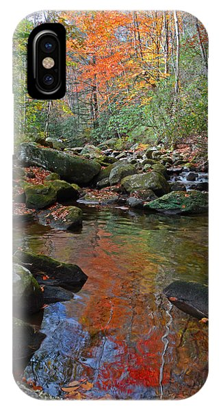 Fall Tranquility On The Middle Saluda River Phone Case by Mary Anne Baker