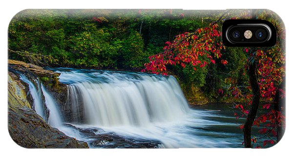 Fall Waterfall Phone Case by Griffeys Sunshine Photography