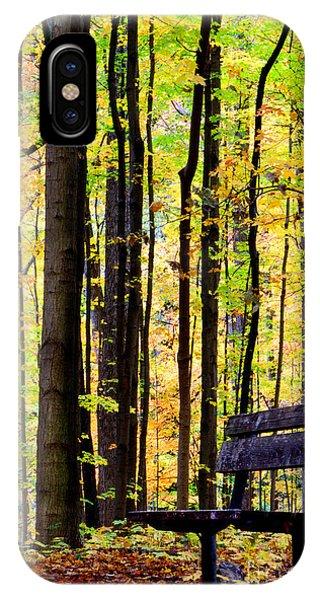 Fall Woods In Michigan IPhone Case