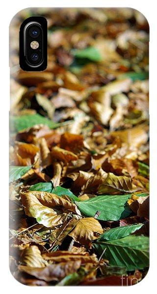 Mottled iPhone Case - Fallen Leaves by Carlos Caetano