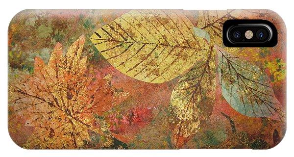 Fall Foliage iPhone Case - Fallen Leaves II by Ellen Levinson