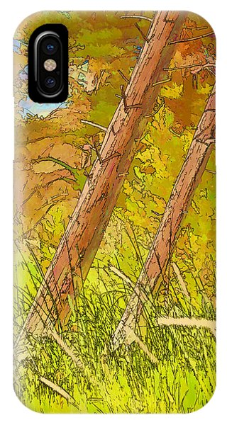 Fallen Pines IPhone Case
