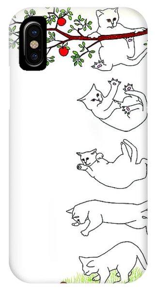 Falling Cat IPhone Case