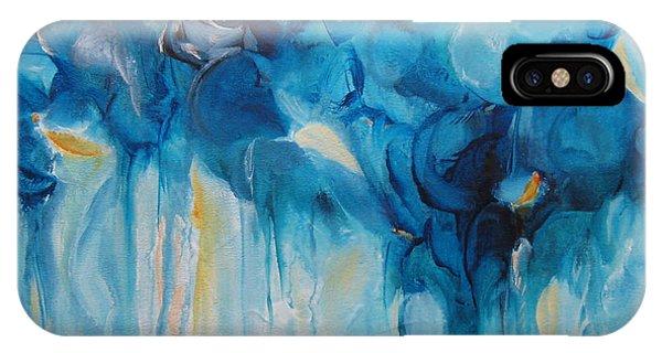 Falling Into Blue II IPhone Case