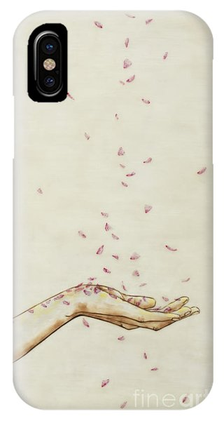 iPhone Case - Falling Pink by Andrea Benson