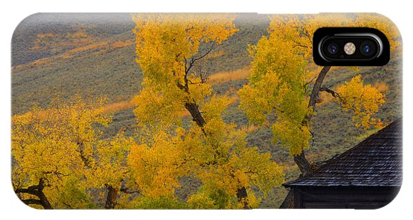 Fall's Arrival At The Yellowstone Association Institute Area IPhone Case