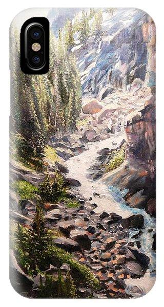 Falls Below Rimrock Lake IPhone Case
