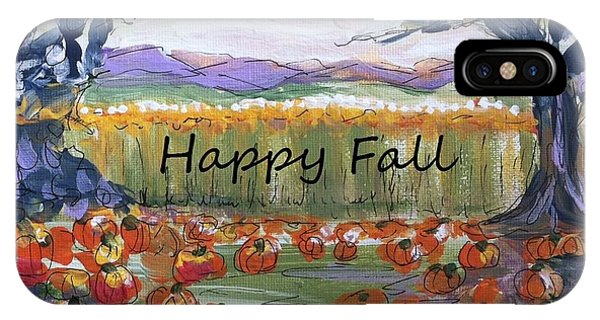 Happy Fall Greeting Card  IPhone Case