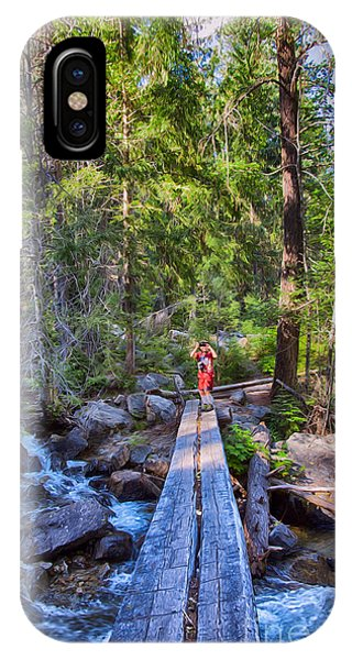 Falls Creek Footbridge IPhone Case