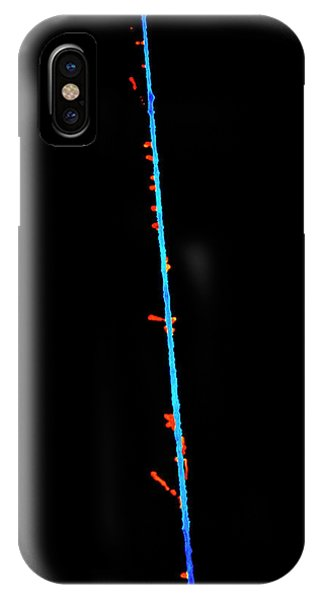 Delta iPhone Case - False-col Photo Of Alpha Particle by Science Photo Library
