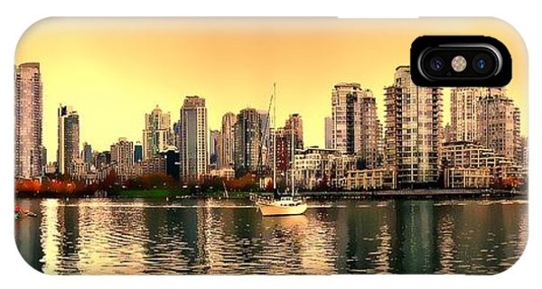 Vancouver Skyline iPhone Case - False Creek And Yaletown Panorama In Vancouver Canada by Patricia Keith