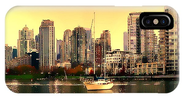 Vancouver Skyline iPhone Case - False Creek Vancouver Glow by Patricia Keith