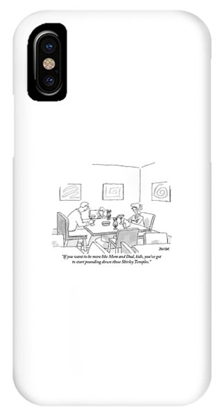 Family Around Table IPhone Case