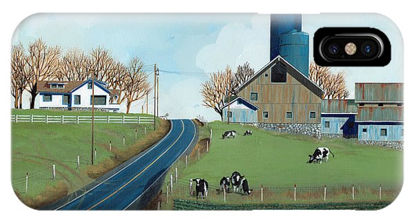 Silos iPhone Case - Family Dairy by John Wyckoff