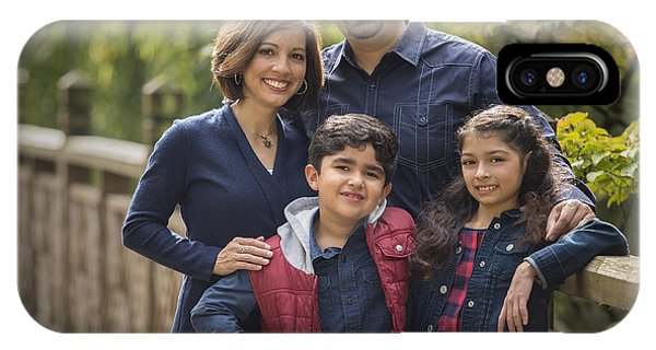 Family Portrait On Bridge - 2 IPhone Case
