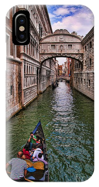 Family Trip Under The Bridge Of Sighs IPhone Case