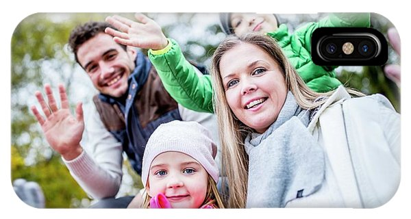 Family Waving Hands Phone Case by Science Photo Library
