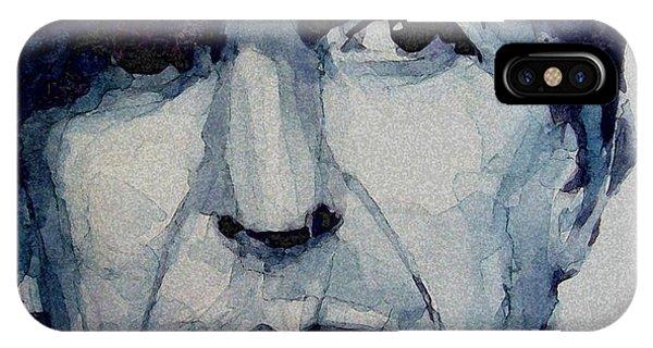 Singer iPhone Case - Famous Blue Raincoat by Paul Lovering