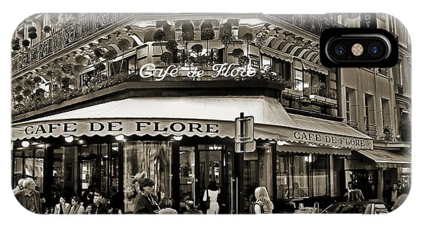 Famous Cafe De Flore - Paris IPhone Case
