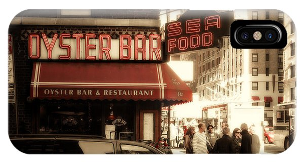 Oyster Bar iPhone Case - Famous Oyster Bar by Jon Woodhams
