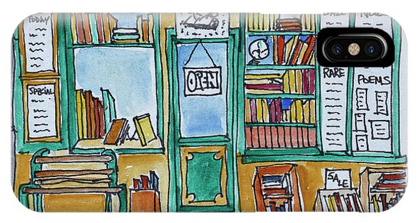 Sketch Book iPhone Case - Famous Shakespeare And Co by Richard Lawrence