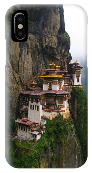 Famous Tigers Nest Monastery Of Bhutan IPhone Case