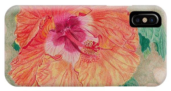 Fancy Hibiscus IPhone Case