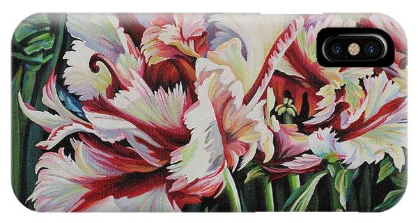 Fancy Parrot Tulips IPhone Case