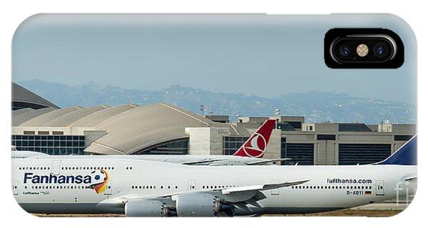 Fanhansa Boeing 747 Airliner IPhone Case
